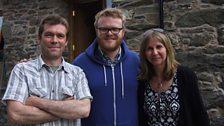Gwyn Maffia, Huw Stephens a Sian James