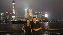 At the end of their 2,600 mile journey across China, Justin Rowlatt and Anita Rani meet up on the Bund in Shanghai.