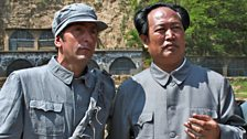 Justin Rowlatt meets a Mao lookalike at the Civil War battle re-enactment in Yan'an, Shaanxi province.
