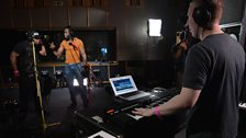 Danny Byrd in session for 1Xtra's 10th Birthday