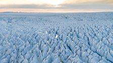 View across the glacier