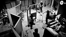 View of the band in session