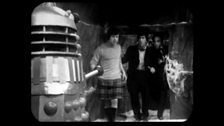 Jamie, the Doctor and Waterfield are Confronted by a Dalek
