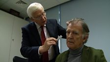 Dr Collin's has a look at Gerry's hair