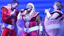 Mamma Mia gala performance: BBC Radio 2 presenter Vanessa Feltz