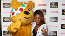 Pudsey gives Alexandra the thumbs-up!
