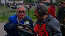 John Inverdale speaking to Peter Alliss live on Drive