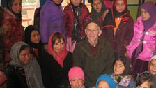John and Lorna Norgrove with children from the Afghan Children's Circus School