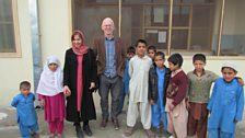 John and Lorna with children from Marastoon, a refuge for widows in Jalalabad