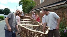 Shropshire Wildlife Team setting off the the Currach
