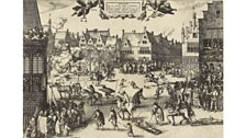 The execution of the conspirators in the Gunpowder Plot, in St Paul's Churchyard