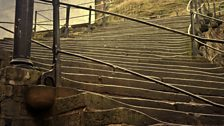 Steps leading up from Whitby Harbour