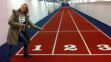 Rachel Burden checks out the running track at St George's Park