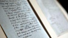 Mary Shelley's manuscript of Frankenstein