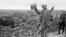 The First World War -  Wounded British soldier