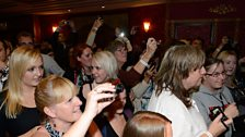 Eager Jersey Boys / Blue fans at the after-party