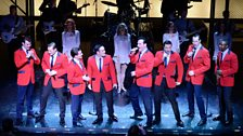 Our Blue Jersey Boys are joined by the regular four lead actors