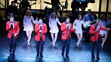Singing the Frankie Valli and the Four Seasons classic