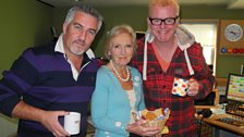 Paul Hollywood, Mary Berry and Chris Evans
