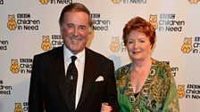 Sir Terry and Lady Helen Wogan arrive for the festivities