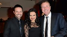 Strictly's Darren Bennett and Lilia Kopylova with Phil Tuffnell