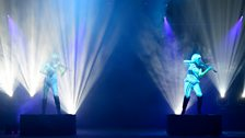 Violin performers Lumina with a stunning laser light show