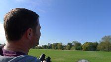 Steve Backshall spotting Red Kites