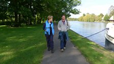 Clare and Steve strolling along The Thames