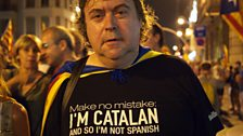 Independence protestor in Barcelona