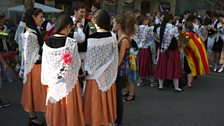 Barcelona in traditional dress