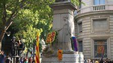 The Rafael Casanova monument in Barcelona