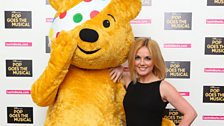 Pudsey and Geri pose for pics