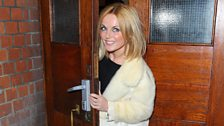 Geri arrives at the Palace Theatre in London's Soho