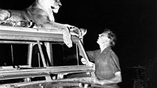 David Attenborough with Elsa the Lioness