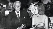 Alistair and his wife Jane in a nightclub in New York, late 1960s