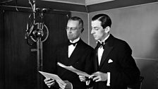 Alistair Cooke with American Ambassador Robert Bingham on 'The American Half Hour', April 1935