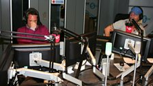 Robbie and Darren have a laugh on-air