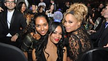 Sarah-Jane with T-Boz and Chilli of the legendary girl group TLC!