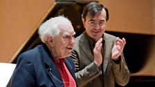 Pierre-Laurent Aimard and Elliott Carter at Aldeburgh Festival 2009