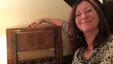 Me and our ancient PYE valve radio. It takes a while to warm up, but reminds me good things are sometimes worth waiting for!