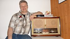 My trusty old 1956 Philips B5X63A Bi-Ampli radio. This model was specially made as a present for Philips employees in Holland.