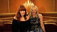 Florence Welch with Jo Whiley