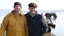 Glynn Purnell and Shrimp Fisherman Michael Wilson, Morecombe