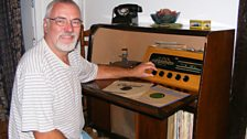 Me and my 1955 KB radiogram that was brought from Chester to southern France. It's been fully repaired and works beautifully!