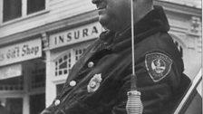 Officer Obie on Main Street Stockbridge