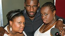 Wretch 32 with backing vocalists Vula and Sharlene