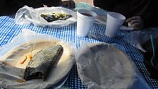 Breakfast at the docks mexican-style
