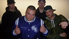 Charlie with the Rhyme Asylum crew