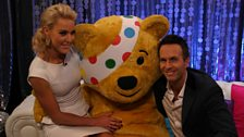 Michael, Natalie and Pudsey