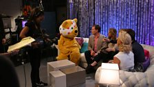 Richard and Pudsey deep in conversation